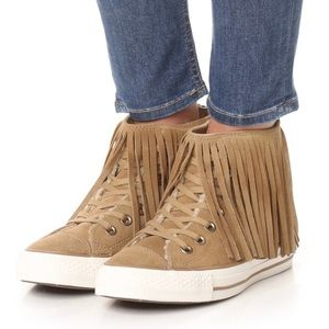 NEW Converse Fringe Suede/Shearling Shoes